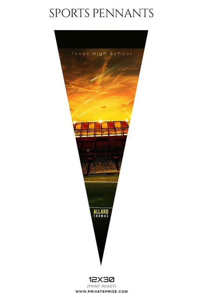 Football Pennants Photography Templates