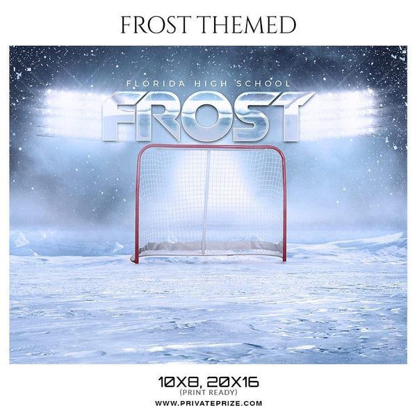 Frost - Ice Hockey Themed Sports Photography Template - Photography Photoshop Template