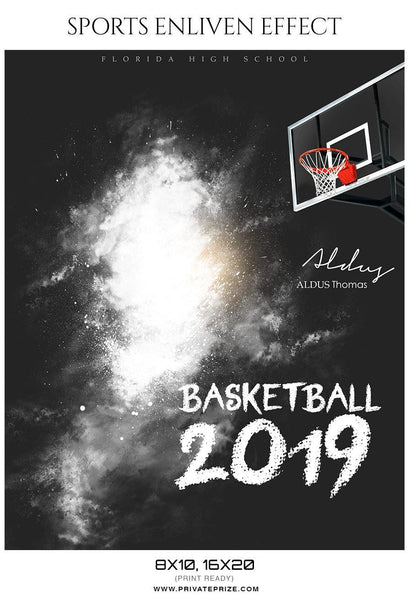 Aldus Thomas - Basketball Sports Enliven Effects Photography Template - Photography Photoshop Template