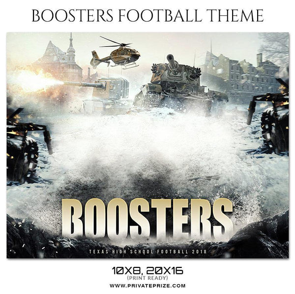 Boosters - Football Themed Sports Photography Template - Photography Photoshop Template