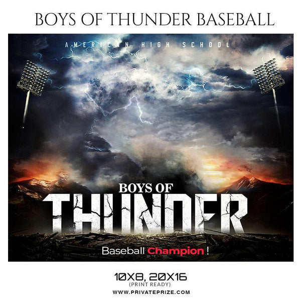 Boys Of Thunder - Baseball Sports Theme Sports Photography Template