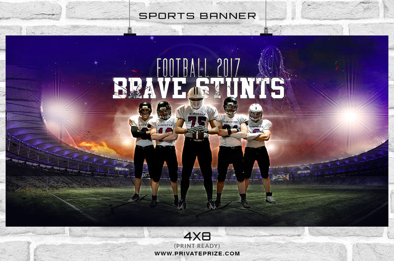 Brave Stunt - Themed Sports Photography Template - Photography Photoshop Template