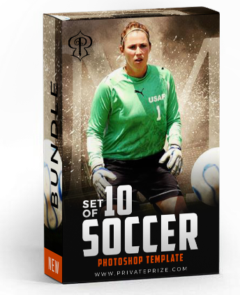 December - Soccer Bundle Photography Photoshop Template - Photography Photoshop Template