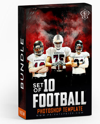 October - Football Bundle Photography Photoshop Template - Photography Photoshop Template