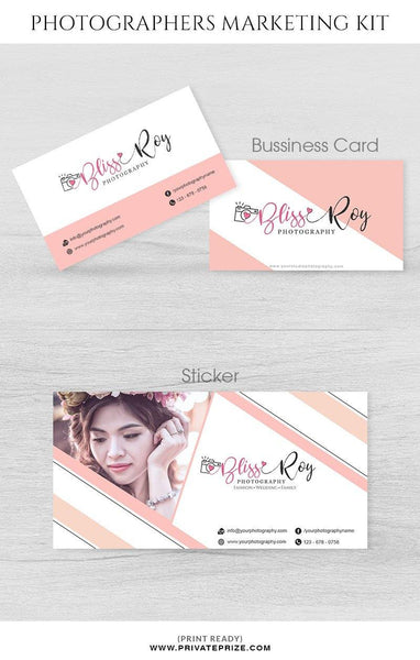 Bliss Roy Photography - Marketing Kit - Photography Photoshop Template