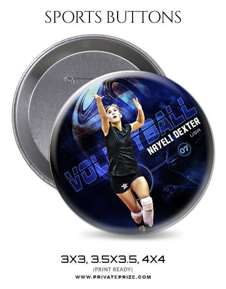Nayeli Dexer - Volleyball Sports Button - Photography Photoshop Template