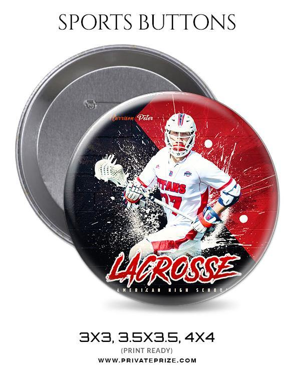 Harrison Peter - Lacrosse Sports Button