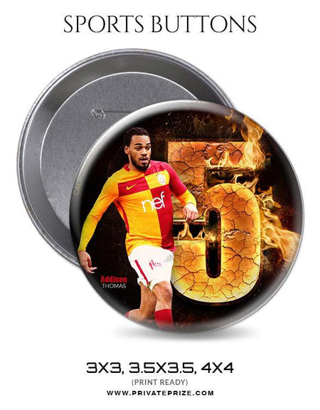 Addison Thomas - Soccer Sports Button - Photography Photoshop Template
