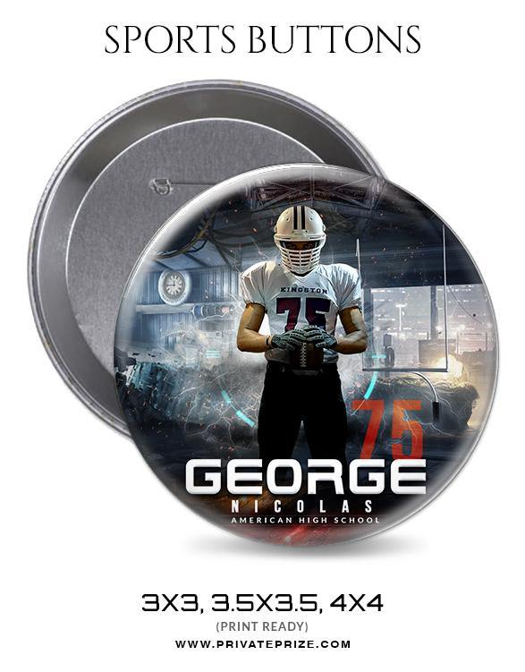 George Nicolas - Football Sports Button - Photography Photoshop Template