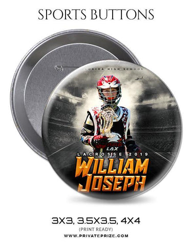 Wiliam Jospeh - Lacrosse Sports Button