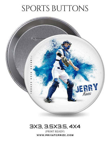 Jerry knox - Baseball Sports Button - Photography Photoshop Template