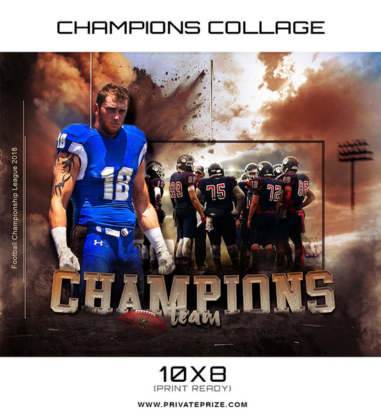 Champions Themed Sports Template - Photography Photoshop Templates