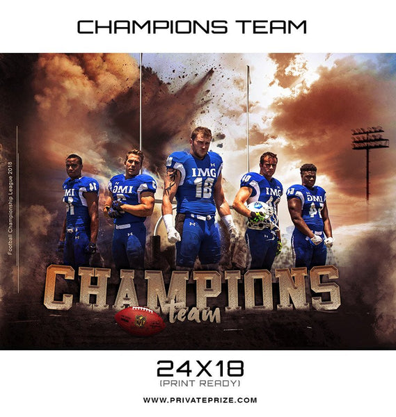 UNLOCKED Champions Themed Sports Template - Photography Photoshop Templates