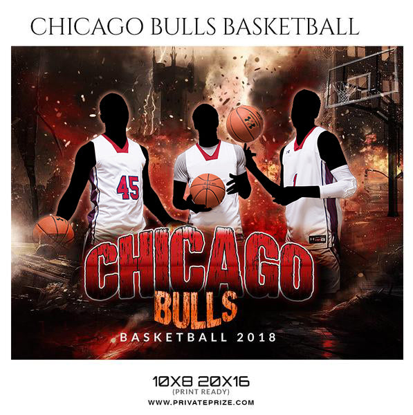 Chicago Bulls Basketball Themed Sports Photography Template