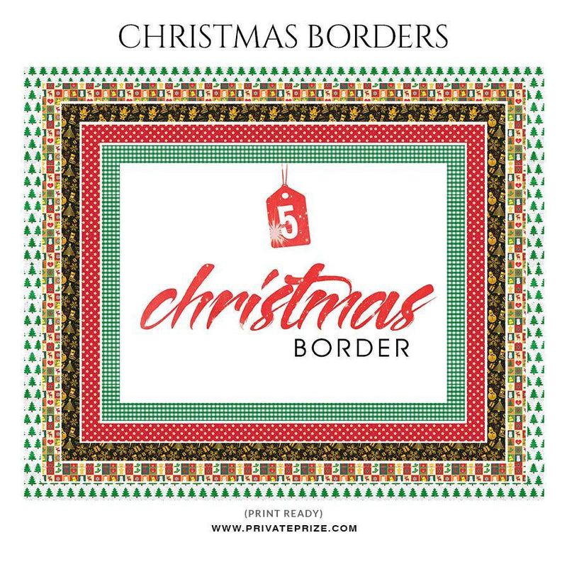 Christmas Border - Digital Frame - Photography Photoshop Template