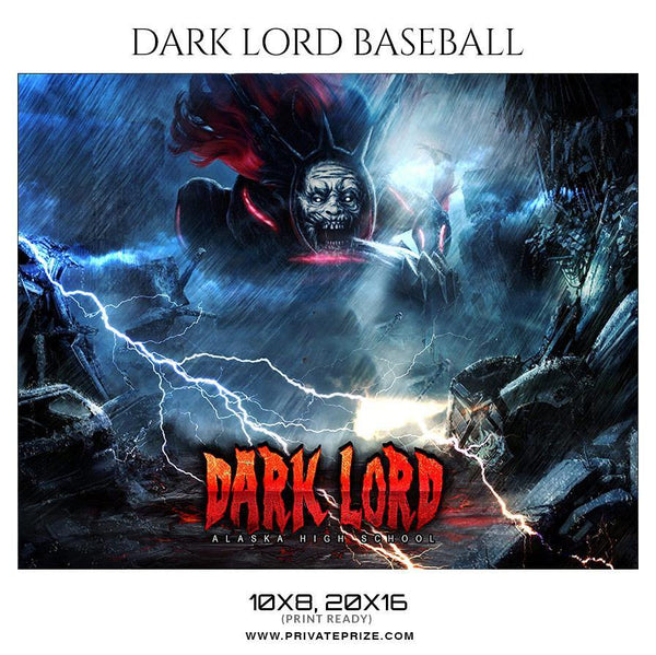 Dark lord - Baseball Sports Theme Sports Photography Template