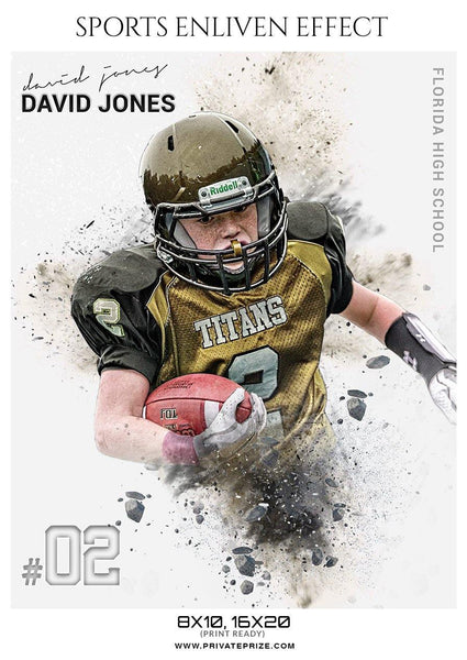 David Jones - Football Sports Enliven Effects Photography Template