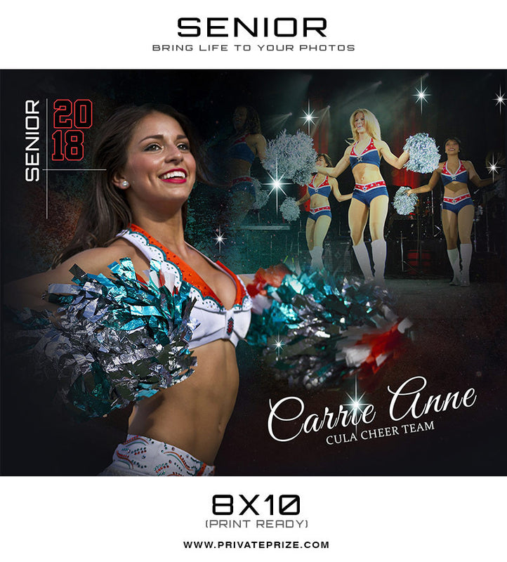 Carrie -Senior Enliven Effects Photoshop Template - Photography Photoshop Template