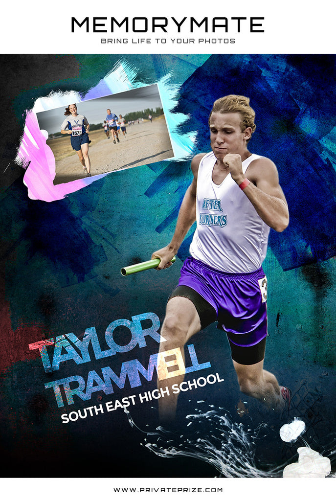 Sports Photography Memory Mates Collage - Photography Photoshop Templates