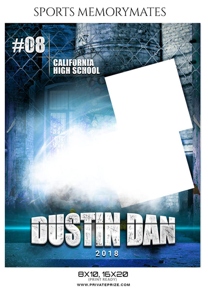 DUSTIN DAN FOOTBALL SPORTS MEMORY MATE - Photography Photoshop Template