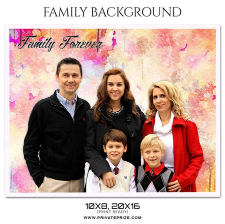 Family Forever - Family Photography - Photography Photoshop Template