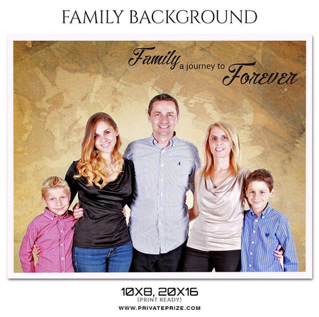 Journey To Forever - Family Photography - Photography Photoshop Template