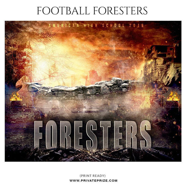 Football Foresters - Themed Sports Photography Template