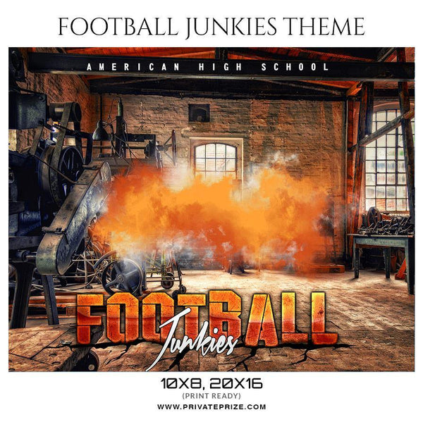 Football Junkies- Football Themed Sports Photography Template