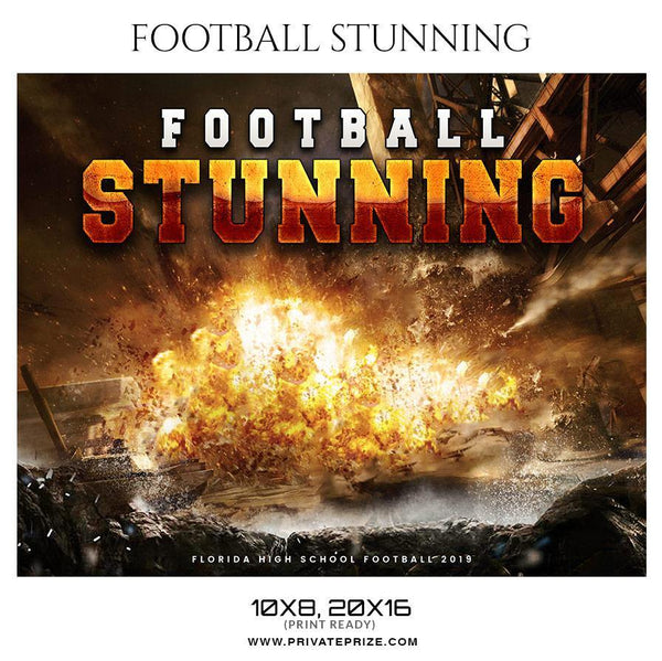 Football Stunning - Themed Sports Photography Template