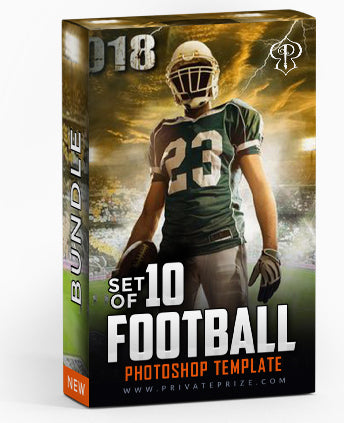 September Football Bundle Photography Photoshop Template - Photography Photoshop Template