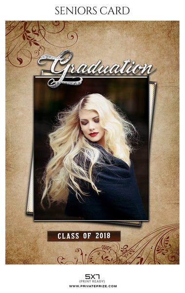 Calista Morgan  - Senior Photo Card - Photography Photoshop Template