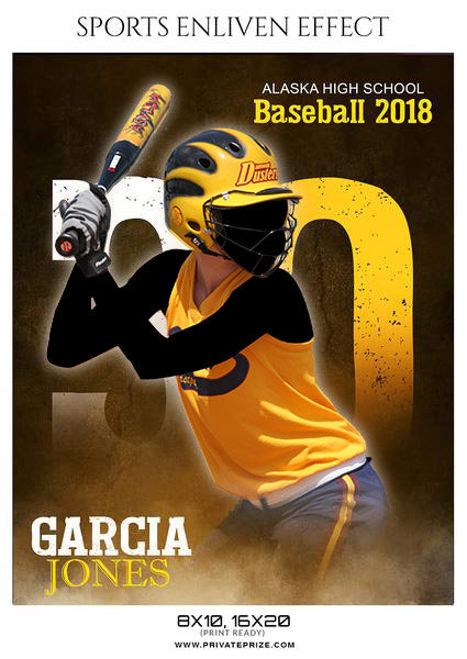 Garcia Jones - Softball Sports Enliven Effects Photography Template