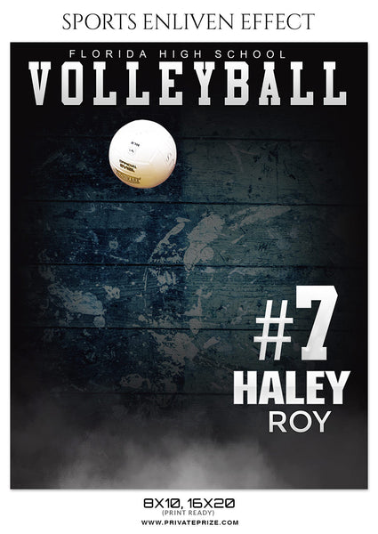 HALEY ROY VOLLEYBALL- ENLIVEN EFFECT - Photography Photoshop Template