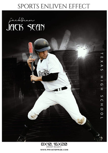 Jack Sean - Baseball Sports  Enliven Effects Photography Template