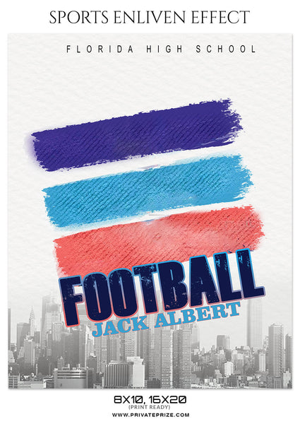 JACK ALBERT - FOOTBALL SPORTS PHOTOGRAPHY - Photography Photoshop Template