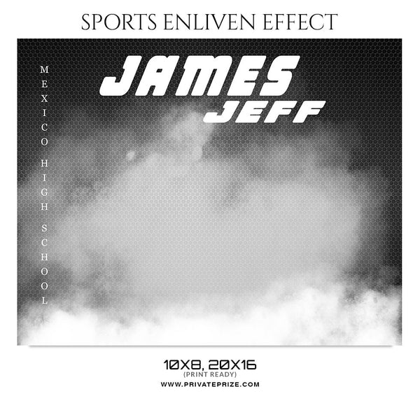 JAMES JEFF-WRESTLING - SPORTS ENLIVEN EFFECT - Photography Photoshop Template
