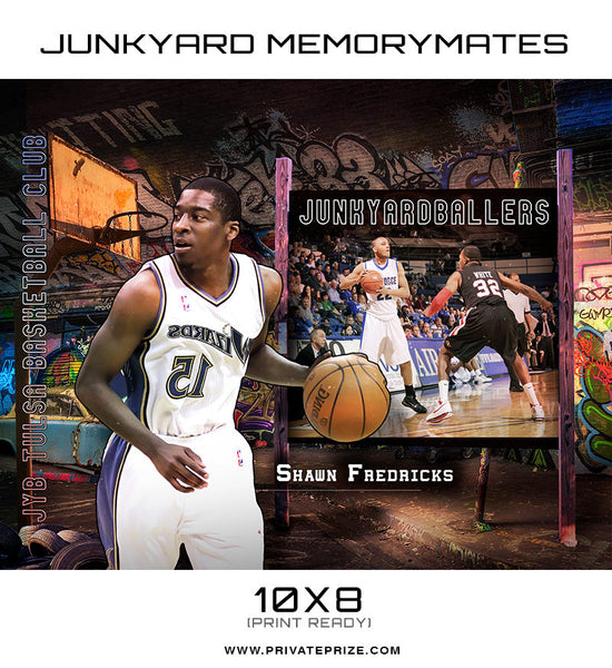 Junk Yard BasketBall Themed Sports Template - Photography Photoshop Templates