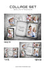 Family Collage - Vintage Silver - Photography Photoshop Templates