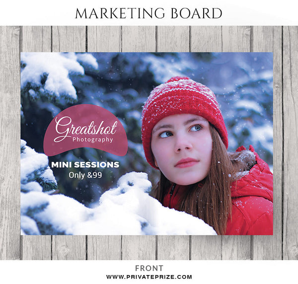 GreatShot Christmas Mini Session Flyer Template for Photographers - Photography Photoshop Templates