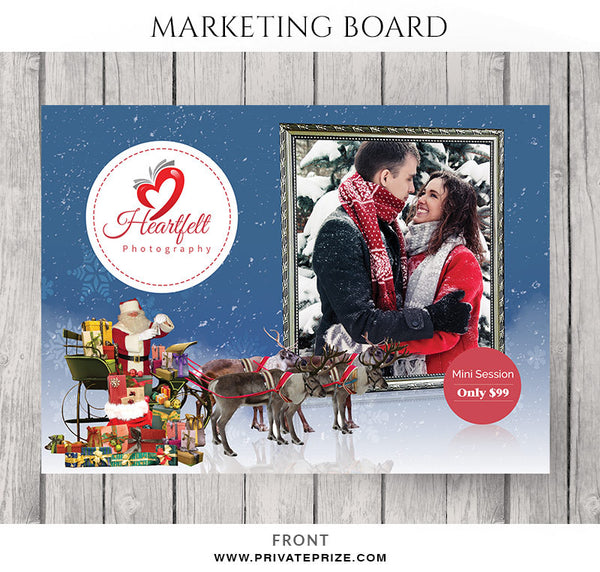 Heartfelt Christmas Mini Session Flyer Template for Photographers - Photography Photoshop Templates