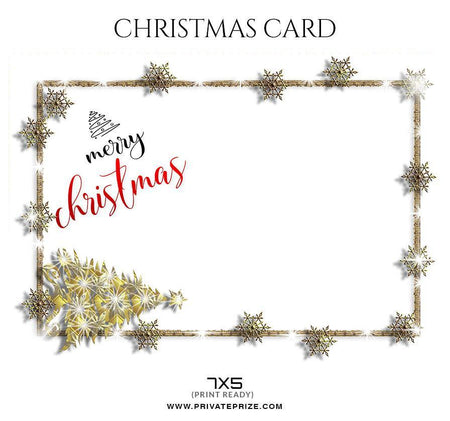 Merry Christmas - Christmas Card Tempates - Photography Photoshop Template
