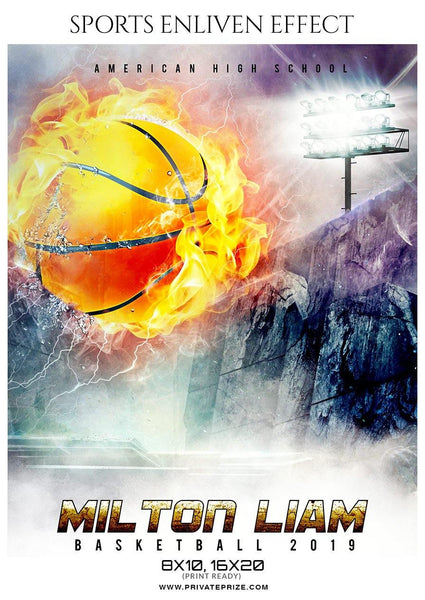 Milton Liam - Basketball Sports Enliven Effect Photography Template