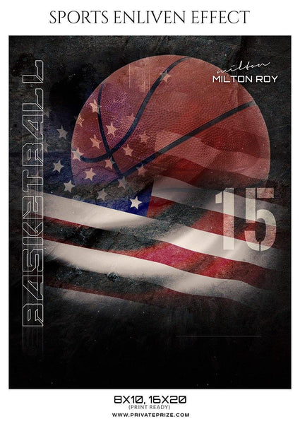 Milton Roy - Basketball Sports Enliven Effect Photography Template