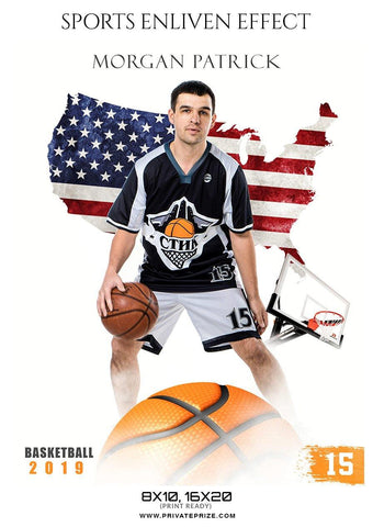 Morgan Patrick - Basketball Sports Enliven Effect Photography Template