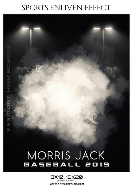 Morris Jack - Baseball Sports Enliven Effect Photography Template