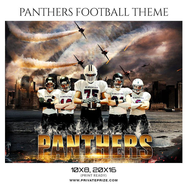 Panthers - Football Themed Sports Photography Template