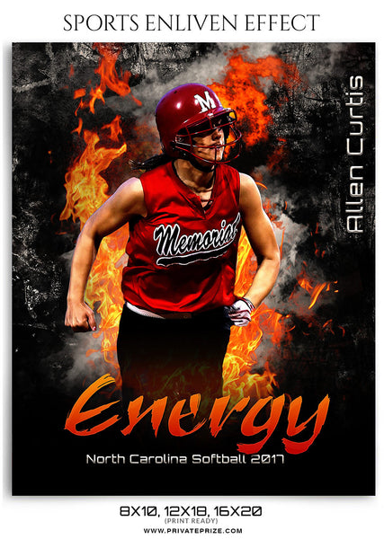Allen Curtis-Softball-Sports Photography Template- Enliven Effects - Photography Photoshop Template