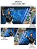 Johnson - Sports Collage Photoshop Template - Photography Photoshop Template