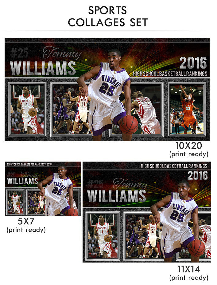 williams sports collage photoshop template