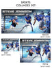 Steve - Sports Collage Photoshop Template - Photography Photoshop Templates